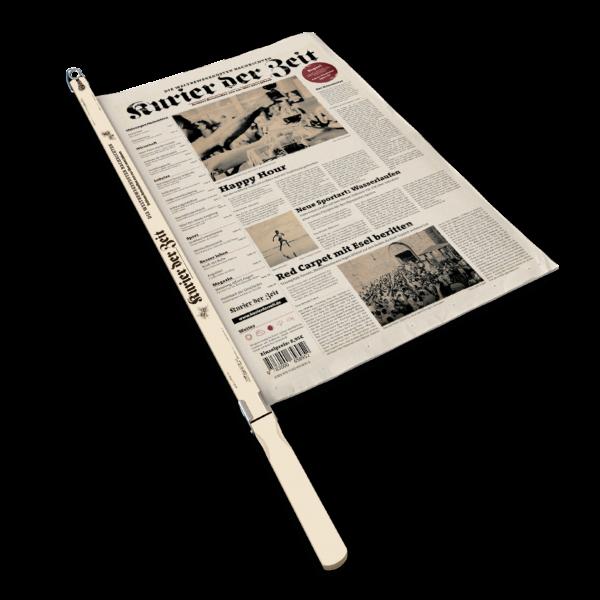 Zeitung in Zeitungsstange