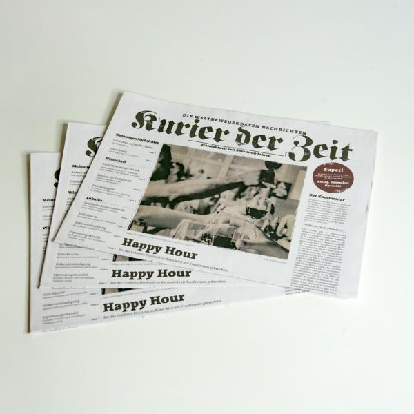 """Zeitungen """"Kurier der Zeit"""""""